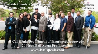 Riverside California Bail Pre Licensing Courses